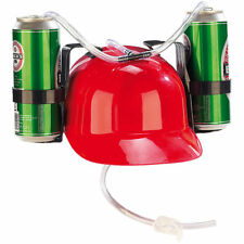 Trinkhelm: Bierhelm mit 2 Dosenhaltern und Trinkschlauch