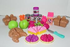 Disney Minnie Mouse Kitchen Play Set Food Dishes Pretend 22 pieces