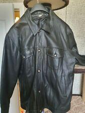 Biker Rock Classic Unnamed  5XL Warm Genuine Leather Jacket