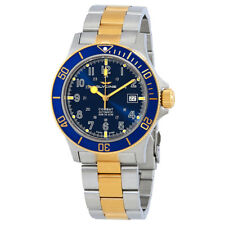Glycine Combat Sub Blue Dial Mens Two Tone Watch GL0081