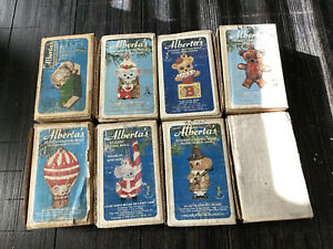Alberta's Lot of 8 Christmas Ceramic Casting Mold Ornaments- Vintage 1978-1984