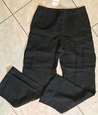 WOMAN OVERSIZED BLACK PANTS (NWT / SZ SMALL) BOYFRIEND FIT