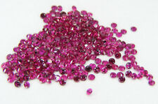 100 PCS. MACHINE CUT 1,7 MM. RUBIS SANG DE PIGEON DE SYNTHESE