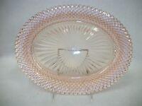 Vintage Depression Glass Platter - Pink Miss America Pattern