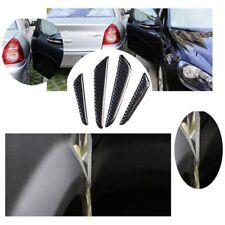 4pcs 3D Carbon Fiber Black Car Side Door Edge Protector Bumper Trim Guards Bar