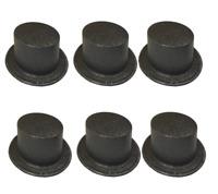 6 x Nero Top Cappelli Brillantini Covered Plastica Costume Cervo Nubilato Notti