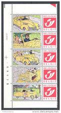 Belgique**TINTIN-5 DUOSTAMPS+Coin Daté 2001+N° de Feuille-BD-CARTOONS-KUIFJE