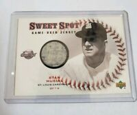2001 Sweet Spot Stan Musial Game Used Jersey Card #JSM St. Louis Cardinals