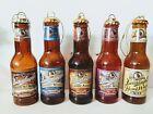 "Lot of 5 Leinenkugel's Brown Glass Beer Bottle 5"" Ornaments"