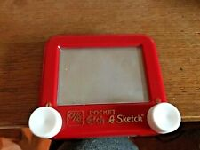 Vintage Travel Etch A Sketch Pocket Size Classic Red by Ohio Art Toy