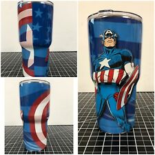 Yeti Ozark 20 Oz 30 Oz Custom Captain America Wrapped Cup Rambler