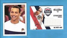STEPHEN CURRY MINT ? 2009-10 TOPPS ROOKIE CARD & USA GAME USED JERSEY WARRIORS