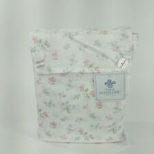 3 Piece Simply Shabby Chic Twin Bedding Floral Print Reversible Pink/ White