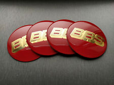 4x 70mm BBS Sticker Stickers Decal Badge For Center Caps Hub Cap Wheel Rim Car
