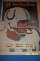 1971 Sporting News BALTIMORE COLTS Johnny UNITAS AFC Championship NO LABEL