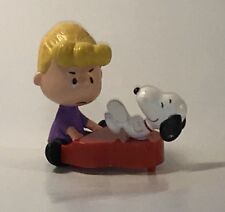 McDonald's 2015 The Peanuts Movie #9 Schroeder and Snoopy Cake Topper