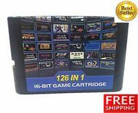 126 In 1 For Sega Genesis Mega Drive Game Cartridge Console - 16-bit Multi Cart