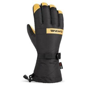 Mens Dakine Nova Leather Palm Ski Gloves BLACK/TAN