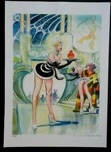 "Milo Manara ( Art Print ) "" Il Futuro ""  Epreuve d'Artiste + Belle Signature"