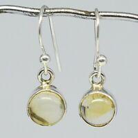 925 Sterling Silver Citrine Gemstone Earrings 2.18 gms Jewelry CCI