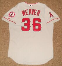 Jered Weaver Grey Los Angeles Angels Authentic Jersey sz 48 Majestic New Mens