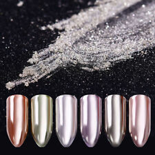 1g Silver Mirror Nail Art Powder Shimmer Chrome Pigment Gel Polish Tips Decor