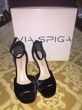 Via Spiga Salina3 Black Velvet Dize 6M  Retails $195