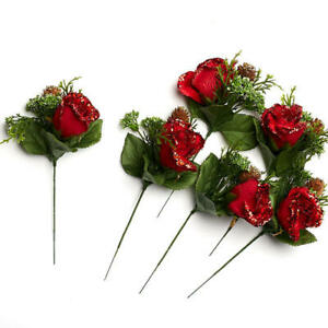 Factory Direct Craft Elegant Winters Day Red Rose Stems for Winter Weddings