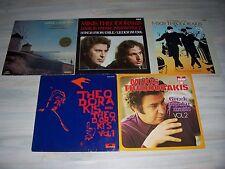 Mikis THEODORAKIS - Sammlung  mit 10 verschiedenen, sehr schönen LPs ! ! + Liste