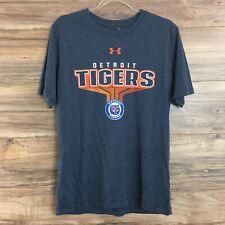 Uunder Armour Detroit Tigers MLB Baseball T-Shirt Gray Mens Size M New