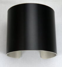 "Black Anodized Aluminum Cuff Bracelet Blanks, 2"" x 6"", one dozen"