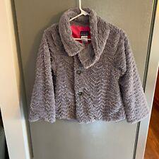 Patagonia Girl's Pelage High Pile Grey Jacket Large (12)
