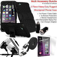 Shockproof Protection Heavy Duty Tough Phone Case Cover✔Accessory Pack✔Black