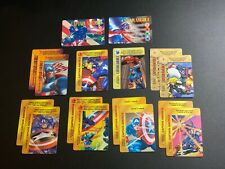 Marvel Overpower CAPTAIN AMERICA LOT of 16 IQ Hero Card Sentinel of Liberty OPD