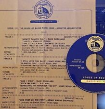 Radio Show: HOUSE OF BLUES 1/27/96 DUKE ROBILLARD TRIBUTE; JOHN LEE HOOKER