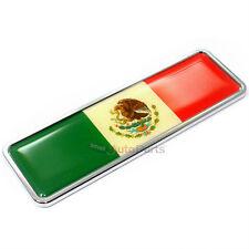 Premium 3D Mexico Flag Chrome Emblem for Car-Truck-Bike rear trunk side fender
