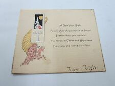 New Years New Year Card Antique Greeting