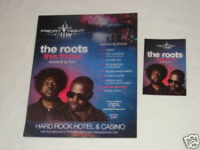 The Roots Concert Hard Rock Las Vegas Promo Ad & Flyer