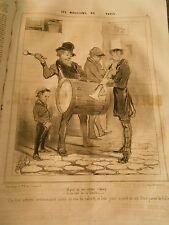 HD 354 - DAUMIER 1843 Musicians de Paris These three artistes cabaret