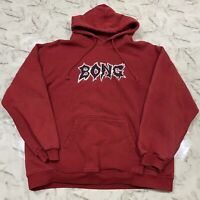 Vintage 90s Billabong Bong Hoodie Sweatshirt Red Spellout Surf Skate Men's Large