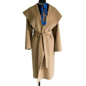Women's Wool Coat Handmade Fashion Cashmere Trench Jackets Double Face 38751