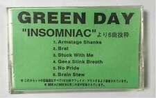GREEN DAY - INSOMNIAC - 6 TRACK PROMO CASSETTE TAPE - JAPANESE IMPORT - VERYRARE