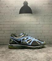 NIKE Air Max + 2012 Women Size 12 Running Shoe 487679-002 Black Gray Light Blue