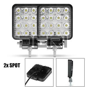 2Pcs 4in 48W 16-LED Work Light Spot Bar Fog Pods 4WD Truck SUV Off-road Driving