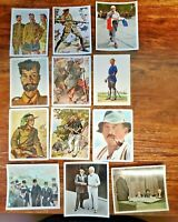 Nice Lot of 12 Early Original Dated German Military Cigarette Cards and Misc