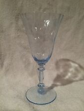 Cambridge Glass Company Caprice Blue water goblets 12 oz PAIR ships free