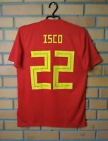 Spain Isco Jersey 2018 2019 Home SMALL Shirt Adidas Football Soccer Maglia