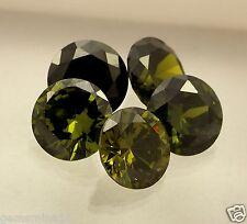53.60 CT Olive Green Cubic Zircon 5 Pcs Fabulous Quality Wholesale Lot Gems W157
