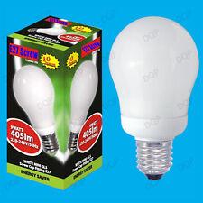 100x 9W basse consommation Mini GLS CFL 3500K Ampoule Lumière Blanche, Es E27