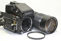AS IS Mamiya M645 1000S Film Camera & 105-210mm F/4.5 Sekor C Lens Made In Japan